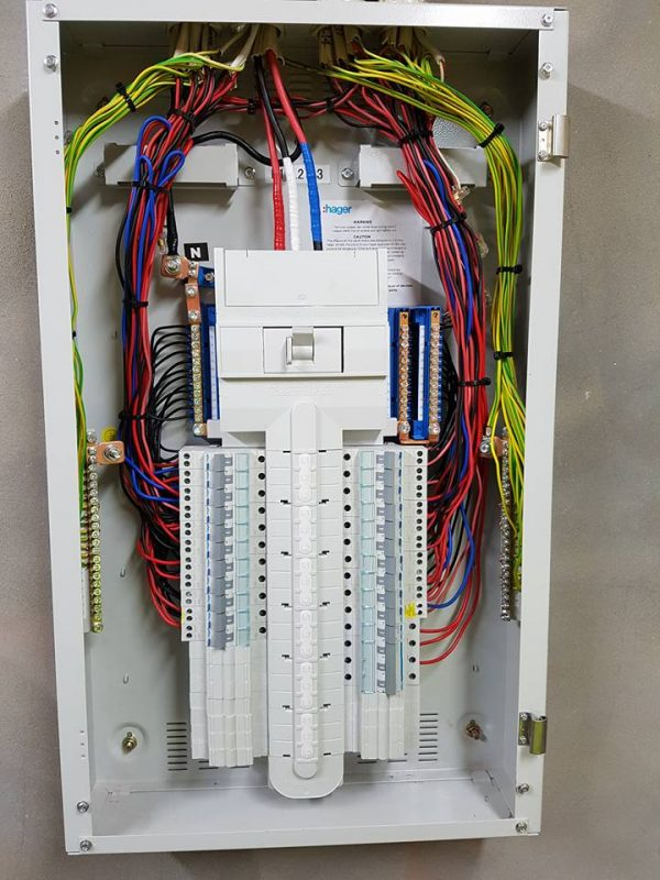 Clean looking switchboard install and maintenance
