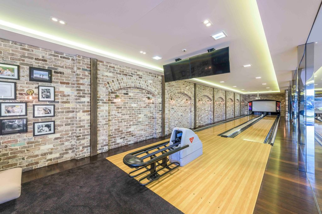Indoor bowling alley lighting installation in the Sutherland Shire